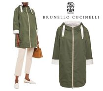 BRUNELLO CUCINELLI☆Reversible cotton & silk hooded jacket