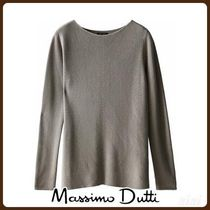 MassimoDutti♪BOAT NECK SWEATER WITH DECREASE STITCHING