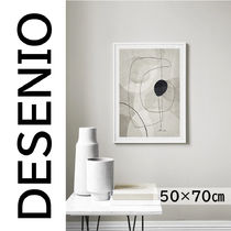 ★DESENIO★BEIGE GRAPHICS NO1 POSTER・50×70㎝★抽象画