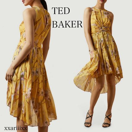◆NEW◆TED BAKER◆ プリーツ クレープ ミディ ワンピ