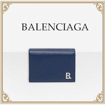 BALENCIAGA☆MINI WALLET B ガーネットカーフスキン Dark blue