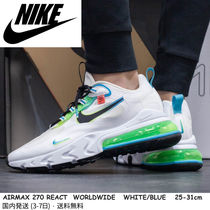 【WORLDWIDE PACK】 即納★ NIKE AIRMAX 270 REACT WW★ 白 兼用