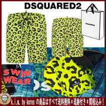 D SQUARED2/MEN'S BEACH WEAR/LEOPARD NEON 5分丈