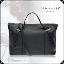 TED BAKER★2WAY OELLIE Knotted handle large leather tote bag
