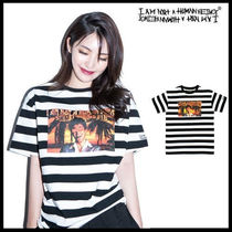 I AM NOT A HUMAN BEING(ヒューマンビーイング) Tシャツ・カットソー ☆I AM NOT A HUMAN BEING☆ The World is Mine SIVAL Stripe T
