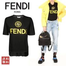 FENDI LADY T-SHIRT FS7045 A43A F143Y BLACK