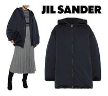 JIL SANDER☆Convertible layered shell down hooded jacket