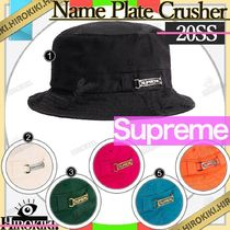 20SS /Supreme Name Plate Crusher Hat ネームプレート ハット