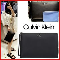 ★CALVIN KLEIN★モノグラムクラッチバッグ☆正規品・2IN1☆