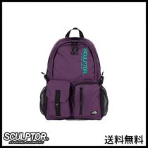 [SCULPTOR] Double Pouch Nylon Backpack [PURPLE]