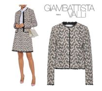 GIAMBATTISTA VALLI☆Floral-appliqued cotton tweed jacket