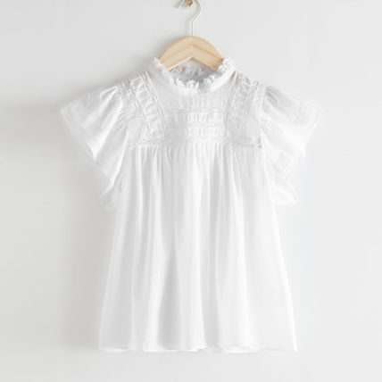 &other stories Frilled Lace Top ホワイト