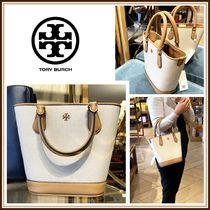 Tory Burch☆CARTER CANVAS SMALL BUCKET TOTE トート☆送料込