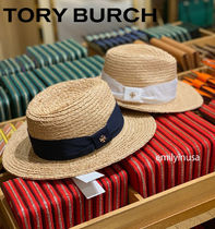 20年夏 TORY BURCH★FEDORA RIBBON STAW HAT  帽子