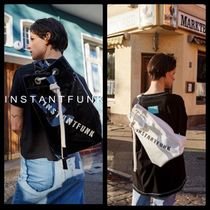 ☆INSTANTFUNK☆20SSエナメルバケットバッグ☆2色展開!