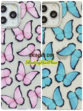 SKINNYDIP☆Butterfly Shock Case☆iPhoneケース/ブルー/ピンク