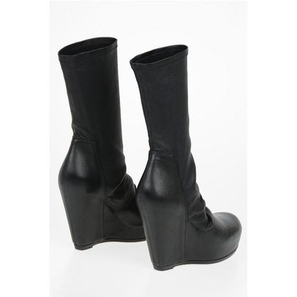 RICK OWENS ミドルブーツ Rick Owens◆Leather SOCK WEDGE Pull On Booties 12 cm(2)