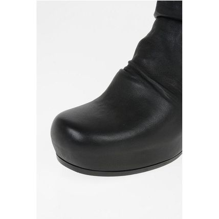 RICK OWENS ミドルブーツ Rick Owens◆Leather SOCK WEDGE Pull On Booties 12 cm(4)