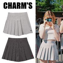 日本未入荷★CHARM'S★Windowpane Check Pleats Pants Skirt 2色