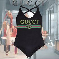 【20SS】★GUCCI★Logo print one-piece swimsuit