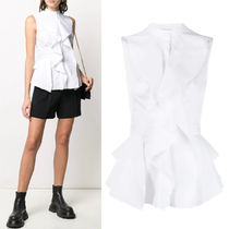 AM776 RUFFLED PEPLUM BLOUSE