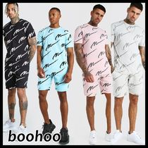 【boohoo】All over MANプリント セットアップ 4色 *送料込*