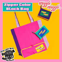 【wiggle wiggle】Zipper Color Block Bag エコバッグ
