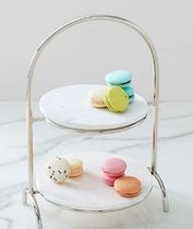 west elm■Marble Tiered Serve Stand 2段 デザート ボード