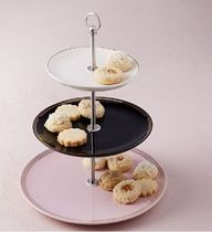 west elm■Fishs Eddy Gilded Petit Four Stand デザート ボード