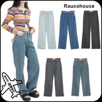【Raucohouse】SLIM DENIM WIDE PANTS★安全発送