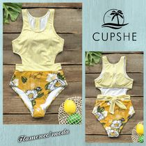 関税込★CUPSHE★YELLOW MISS U POPPY PRINT*ワンピース(C730)