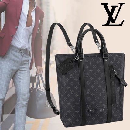 【LOUIS VUITTON】日本完売レア品 バックパック トートバッグ 黒
