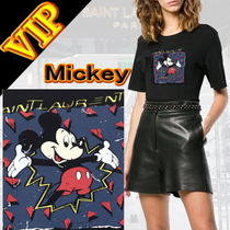 ◆◆Saint Laurent * Disney コラボ ◆◆ Mickey ロゴ  Tシャツ