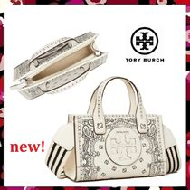 セール 新作 Tory Burch Ella Printed Leather Micro Tote 2Way