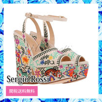 Sergio Rossi Embroidery Sandals ハイヒール サンダル 15cm