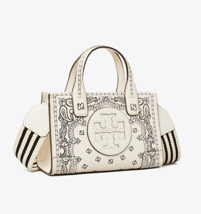Tory Burch ELLA PRINTED LEATHER MICRO TOTE BAG