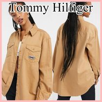 Tommy Jeans ブランドパッチ ディテールシャツ Beige 送料込み