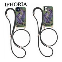 【IPHORIA】Olive Leopards ネックレスiPhone11/11Proケース対応