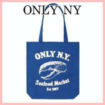 ONLY NY Seafood Market キャンバス トートバック Blue 送料込