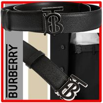 ★人気★ BURBERRY ★Monogram Leather Belt★ベルト★