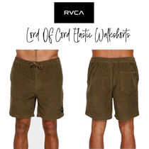 【RVCA】LORD OF CORD ELASTIC WALKSHORTS ショートパンツ
