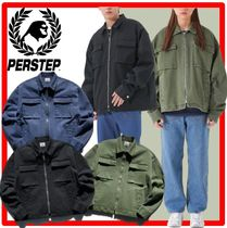 ★韓国の人気★perstep★Box Pocket Washing Jacket★3色★
