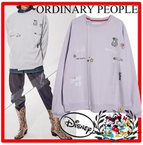 ORDINARY PEOPLE(オーディナリーピープル) スウェット・トレーナー 人気★ORDINARY PEOPLE X DISNEY★DRAW LIKE DISNEY SWEATSHIRTS
