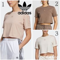【adidas originals】Cropped T-Shirt 3ストライプ 半袖 Tシャツ