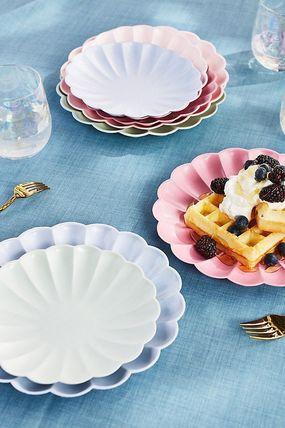 Anthropologie 食器(皿) 最安値*関税送料込【Anthro】Scalloped Eco Side Plate 8枚SET(4)