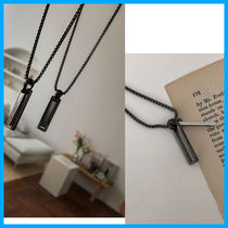 【ASCLO】Square black nickel necklace〜スクエアネックレス