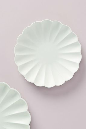 Anthropologie 食器(皿) 最安値*関税送料込【Anthro】Scalloped Eco Side Plate 8枚SET(2)