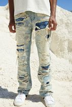 国内発送JADED LONDON EXTREME RIPPED SAND BLASTED DENIM JEANS