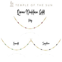 【TEMPLE OF THE SUN】Quinn Necklace Gold ゴールドネックレス