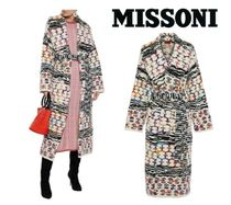 [関税・送料込] MISSONI☆Belted intarsia wool-blend coat